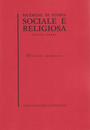 copertina di Ricerche di storia sociale e religiosa, 80