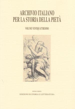 copertina di Archivio italiano per la storia della pietà, xxiv