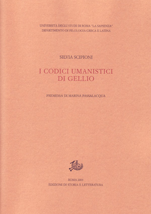 copertina di I codici umanistici di Gellio