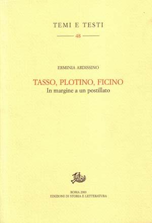 copertina di Tasso, Plotino, Ficino