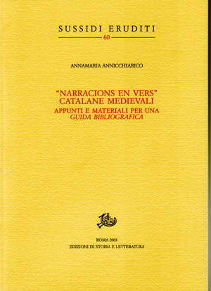 copertina di Narracions en vers catalane medievali