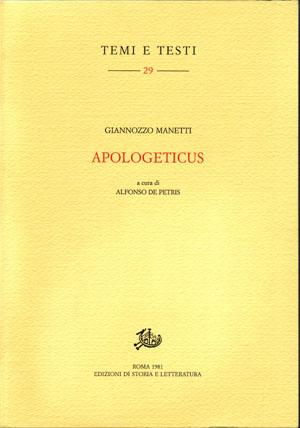 copertina di Apologeticus