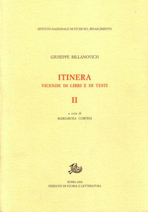 copertina di Itinera