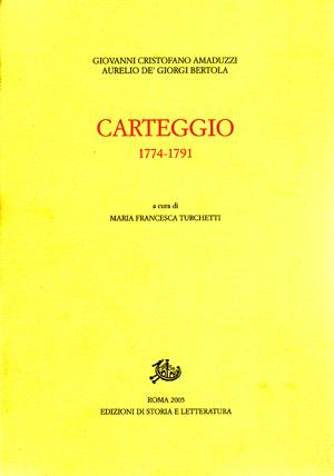 copertina di Carteggio 1774-1791