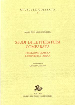 copertina di Studi di letteratura comparata