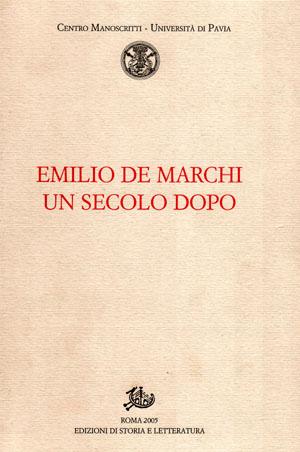 copertina di Emilio De Marchi