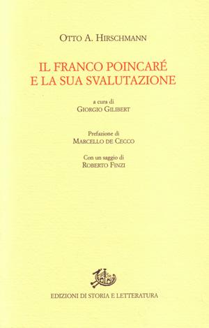 copertina di Il franco Poincaré e la sua svalutazione