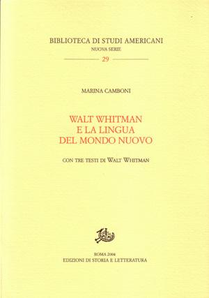 copertina di Walt Whitman e la lingua del Mondo Nuovo