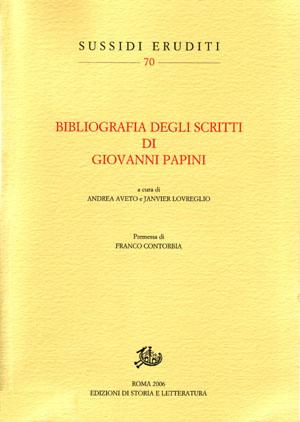 copertina di Bibliografia degli scritti di Giovanni Papini