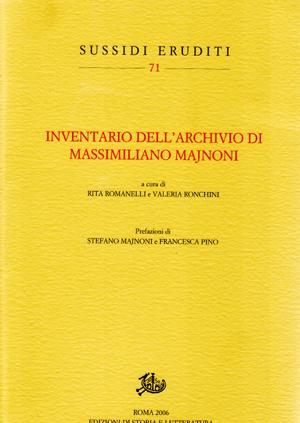 copertina di Inventario dell'Archivio di Massimiliano Majnoni