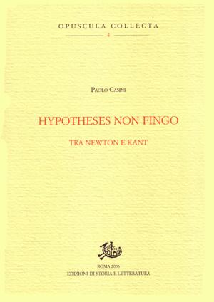 copertina di Hypotheses non fingo