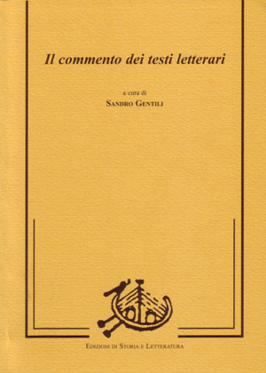 copertina di Il commento dei testi letterari