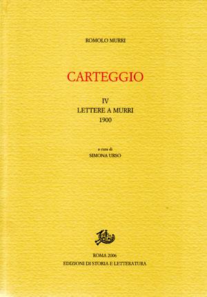 copertina di Carteggio. IV