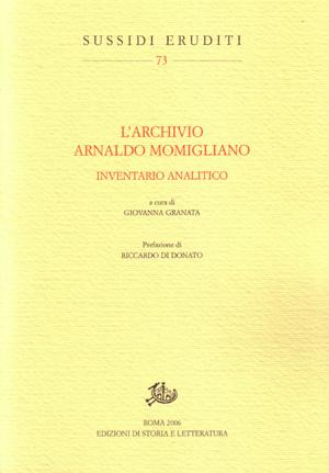 copertina di L'archivio Arnaldo Momigliano