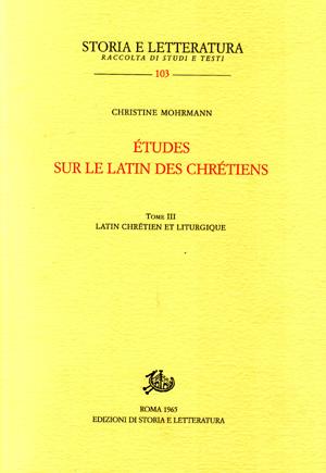 copertina di Études sur le latin des chrétiens. III