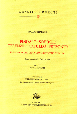 copertina di Pindaro Sofocle Terenzio Catullo Petronio
