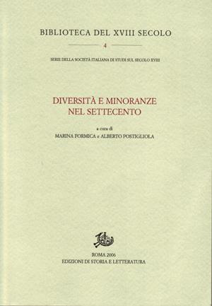 copertina di Diversità e minoranze nel Settecento