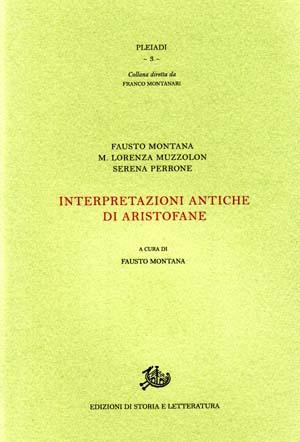 copertina di Intrepretazioni antiche di Aristofane