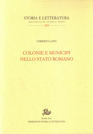 copertina di Colonie e municipi nello Stato romano