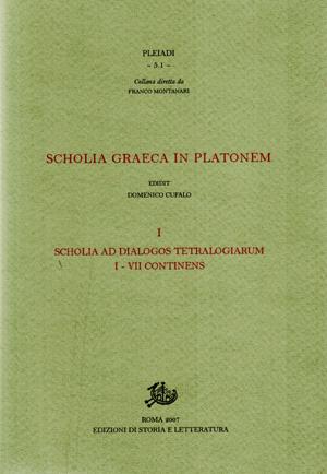 copertina di Scholia graeca in Platonem