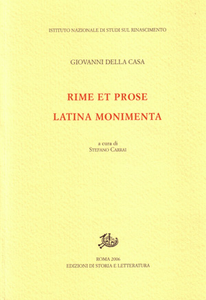 copertina di Rime et prose