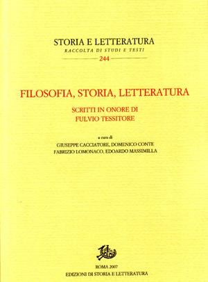 copertina di Filosofia, storia, letteratura