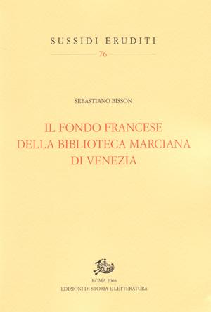 copertina di Il fondo francese della Biblioteca Marciana di Venezia