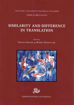 copertina di Similarity and Difference in Translation