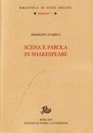 copertina di Scena e parola in Shakespeare