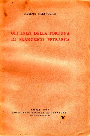copertina di Gli inizi della fortuna di Francesco Petrarca