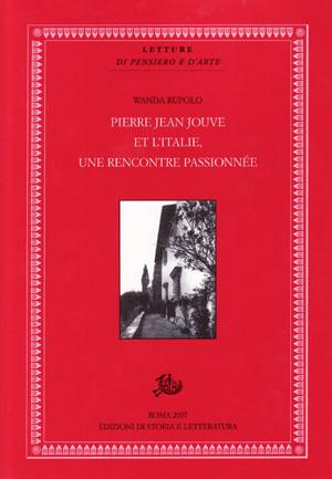 copertina di Pierre Jean Jouve et l'Italie, une rencontre passionnée