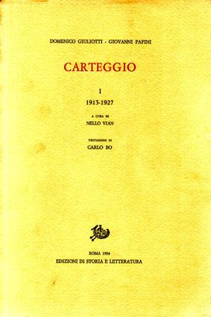 copertina di Carteggio. I