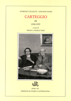 copertina di Carteggio. III