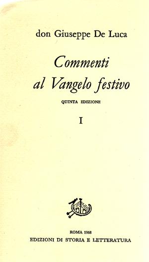 copertina di Commenti al Vangelo festivo