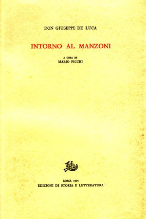 copertina di Intorno al Manzoni
