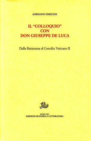 copertina di Il «Colloquio» con don Giuseppe De Luca