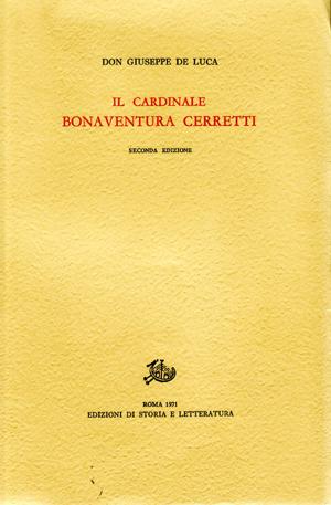 copertina di Il Cardinale Bonaventura Cerretti