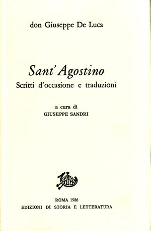 copertina di Sant'Agostino