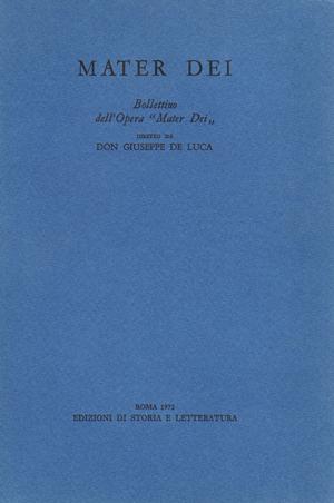 copertina di Mater Dei