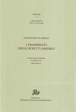 copertina di I frammenti degli scritti omerici