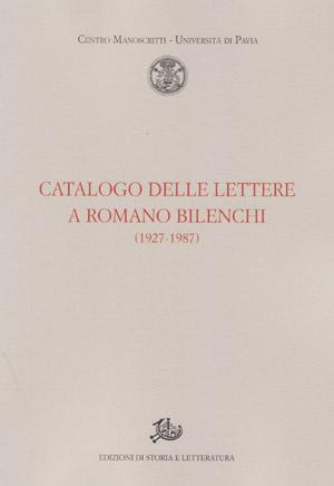 copertina di Catalogo delle lettere a Romano Bilenchi