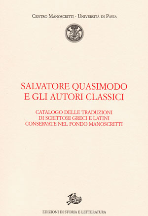 copertina di Salvatore Quasimodo e gli autori classici