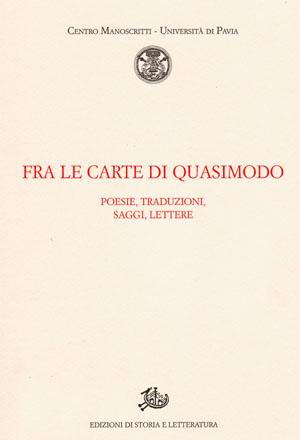 copertina di Fra le carte di Quasimodo