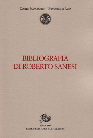 copertina di Bibliografia di Roberto Sanesi