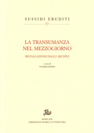 copertina di La transumanza nel Mezzogiorno