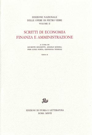 copertina di Scritti di economia, finanza e amministrazione