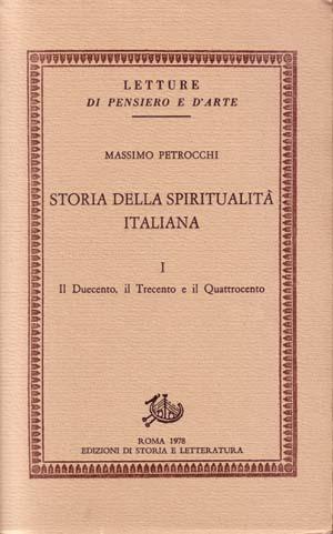 copertina di Storia della spiritualità italiana I