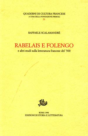 copertina di Rabelais e Folengo e altri studi sulla letteratura francese del '500