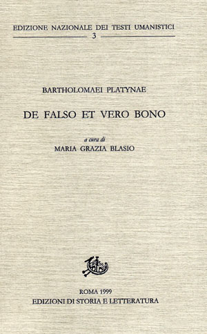 copertina di De falso et vero bono