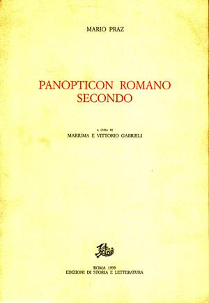 copertina di Panopticon romano secondo